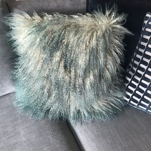Anthropologie Mongolian Fur pillow cover